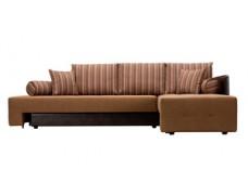 Prado коричневый (Ткань + Экокожа)